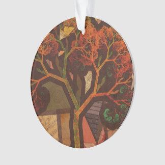 Schöne Fraktal-Collage eines Origami Herbstes Ornament