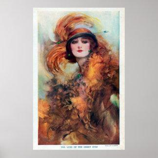 Schöne Frauen-Vintages Plakat
