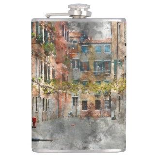 Schöne Gebäude in Venedig Italien Flachmann