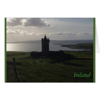 Schöne grüne Irland-Schloss-Karten Karte