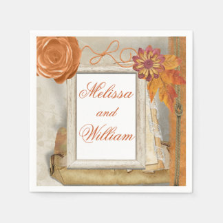 Schöne Hochzeit im Herbst Papierservietten