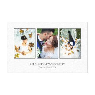 Schöne Hochzeits-Foto-Collage Leinwand Druck