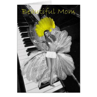 Schöne Mamma-Geburtstags-Karte, Show-Mädchen-Karte