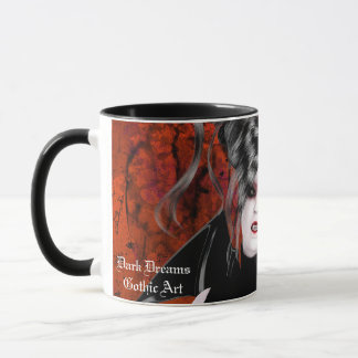 Schöne Rasereigotische Vampire-Kunst-Tasse Tasse