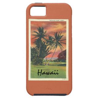 Schöne Retro FarbeMoanalua Palmen Hawaii Hülle Fürs iPhone 5