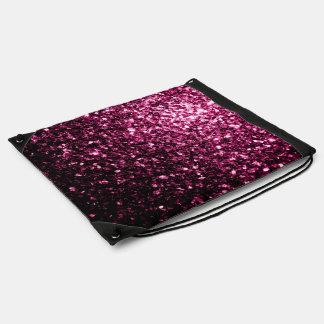 Schöne rosa Glitter-Glitzern Sportbeutel