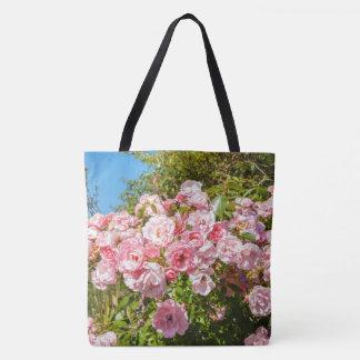 Schöne rosa Rosen, hübsche Taschentasche