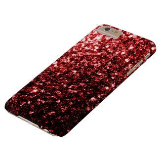Schöne rote Glitter-Glitzern iPhone 6 Plusfall Barely There iPhone 6 Plus Hülle