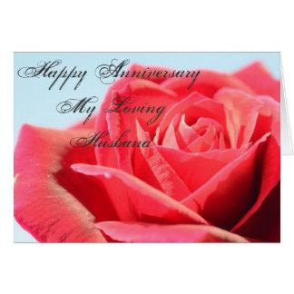 Schöne Rote Rose Jahrestags-Karte Grußkarte