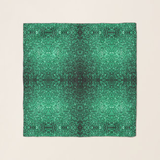 Schöne Smaragdgrün-Glitter-Glitzern Schal