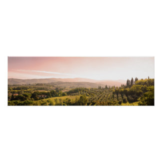 Schöne toskanische Landschaft Poster