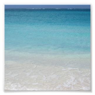 Schöne Türken des Strand-| und Caicos-Foto Photographischer Druck