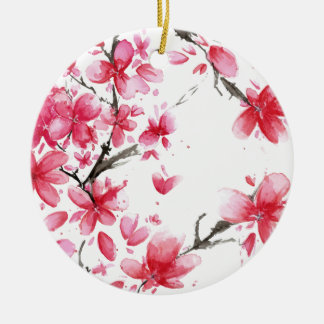 Schöne u. elegante Verzierung der Kirschblüten-| Keramik Ornament