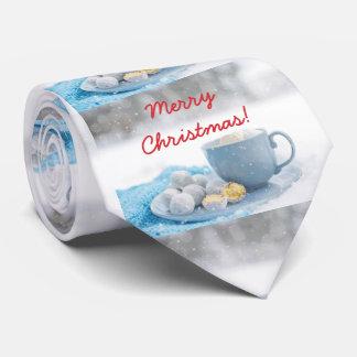 Schöne Weihnachtsatmosphäre mit heißer Schokolade Individuelle Krawatte