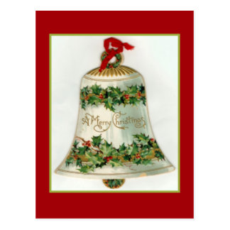 Schöne Weihnachtsglocke Postkarte