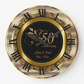 Schöner 50. goldener Jahrestag Wanduhr