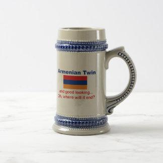 Schöner armenischer Zwilling Bierglas
