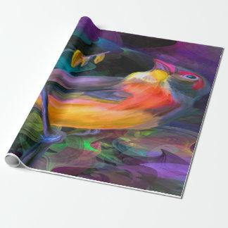 Schöner bunter Vogel Geschenkpapier