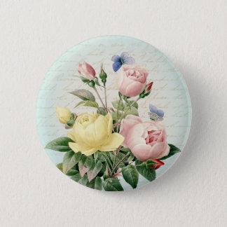 Schöner der Rosen Vintager und girly mit Runder Button 5,7 Cm