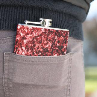 Schöner Glamour-rote Glitter-Glitzern Flachmann