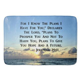 SCHÖNER JEREMIAS-29:11 SCHRIFTS-VERS BADEMATTE