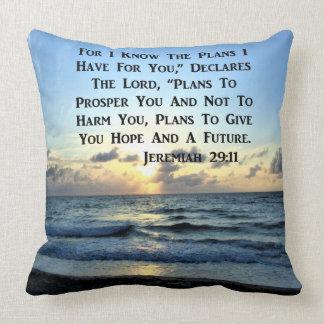 SCHÖNER JEREMIAS-29:11 SCHRIFTS-VERS KISSEN