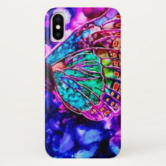 Schöner kosmischer Schmetterlings-Aquarell-Kasten iPhone X Hülle