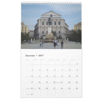 Schöner Madrid-Kalender 2017 Abreißkalender