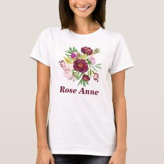 Schöner Pfingstrosen-Blumenstrauß Customizeable T-Shirt