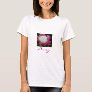 Schöner Pfingstrosen-T - Shirt