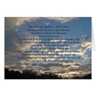 Schöner Psalm 23 Notecards Mitteilungskarte