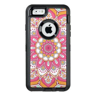Schöner rosa Blumen-Entwurf OtterBox iPhone 6/6s Hülle