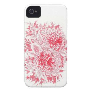Schöner roter Pfingstrose kaum dort IPhone 4 iPhone 4 Case-Mate Hülle