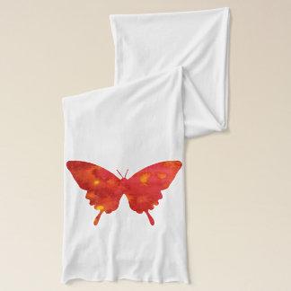 Schöner roter Schmetterling auf Jerseyschal Schal