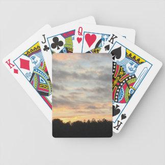Schöner Sonnenuntergang-Kartenhalter Bicycle Spielkarten