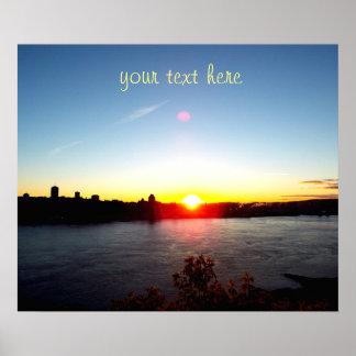 Schöner Sonnenuntergang Poster