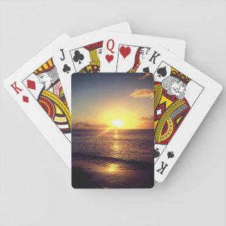 Schöner Sonnenuntergang Spielkarten