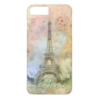 Schöner trendy girly Vintager Eiffel-Turm iPhone 8 Plus/7 Plus Hülle