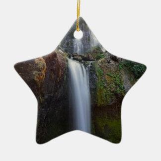 Schöner Wasserfall Keramik Stern-Ornament