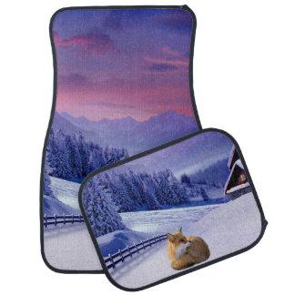 Schöner WinterFox Automatte