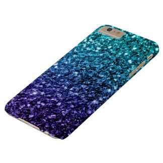 Schönes Aqua blaue Ombre Glitter-Glitzern Barely There iPhone 6 Plus Hülle