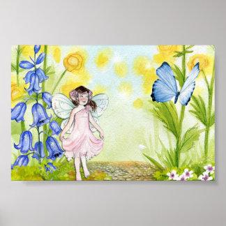 Schönes Bluebellfeeplakat Poster