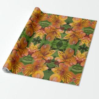 schönes Blume geo Geschenkpapier