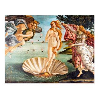 Schönes Botticelli Venus wieder hergestellt und Postkarte