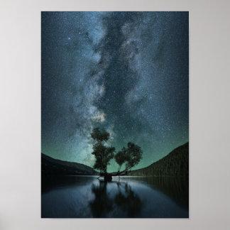 Schönes cooles Galaxie-Plakat Poster