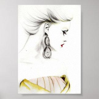 schönes Damenplakat Poster