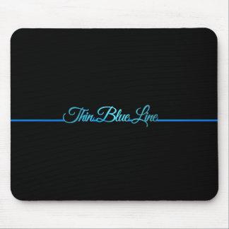 Schönes elegantes dünnes Blue Line Mousepad