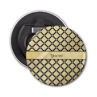 Schönes elegantes Gold u. schwarzes symmetrisches Flaschenöffner