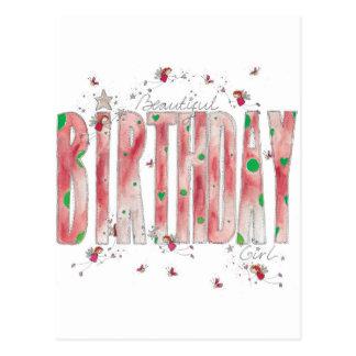 Schönes Geburtstags-Mädchen Postkarte