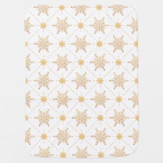Schönes Imitat-Goldschneeflocke-Weihnachtsmuster Babydecke